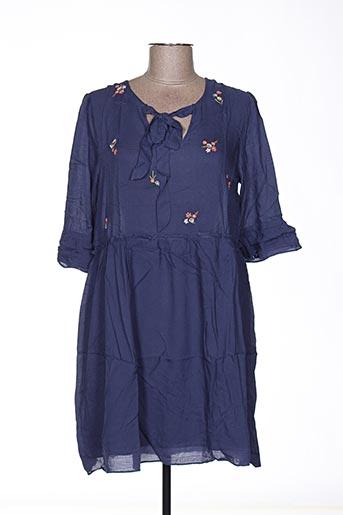 Robe mi-longue bleu ANDY & LUCY pour femme