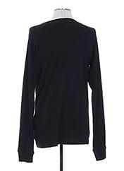 T-shirt manches longues noir REPLAY pour homme seconde vue