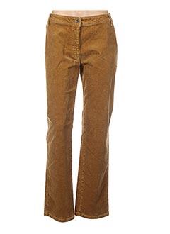 Pantalon casual jaune CMK pour femme