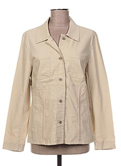 Veste casual beige TELMAIL pour femme