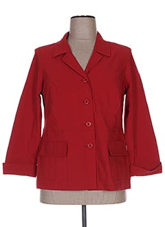 Veste chic / Blazer rouge TELMAIL pour femme