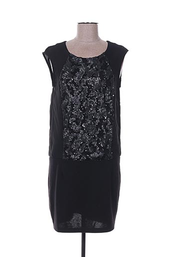 Robe courte noir COLOR BLOCK pour femme