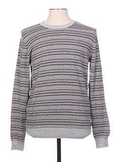 Pull col rond gris BENCH pour homme