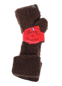 Chaussettes marron BERTHE AUX GRANDS PIEDS pour femme