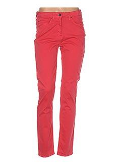 Pantalon casual rouge DESAIVRE pour femme