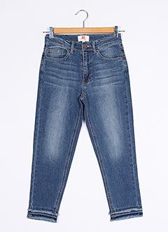 Jeans coupe slim bleu AMERICAN OUTFITTERS pour fille