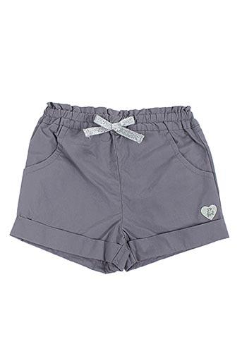 Short gris 3 POMMES pour fille