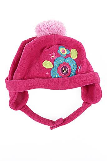 Bonnet rose TUC TUC pour fille