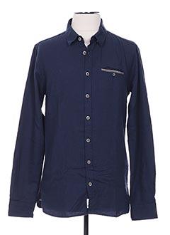 Chemise manches longues bleu HARRIS WILSON pour homme