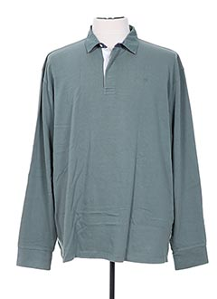 Polo manches longues vert SERGE BLANCO pour homme