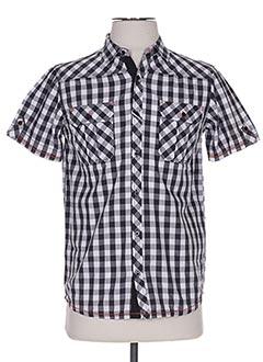 Chemise manches courtes noir LOSAN pour garçon