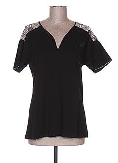 T-shirt manches courtes noir THALASSA pour femme