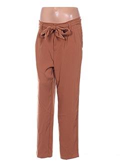 Pantalon casual marron GRACE & MILA pour femme