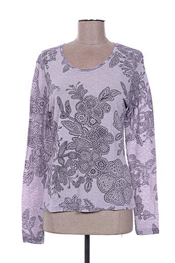 T-shirt manches longues violet FINETTE pour femme