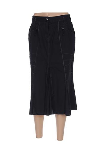 Jupe mi-longue noir BLEU DE SYM pour femme