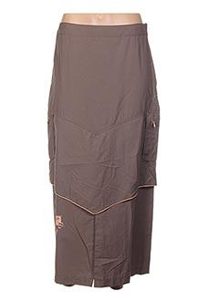 Jupe longue marron EPICEA pour femme