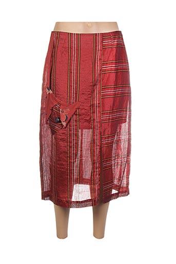 Jupe mi-longue rouge COCO MENTHE pour femme