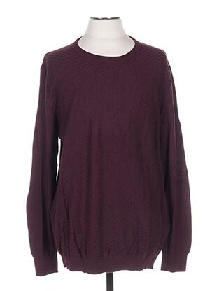 Pull col rond rouge CELIO pour homme