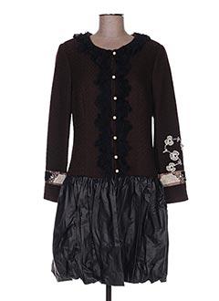 Manteau long marron BLEU BLANC ROUGE pour femme