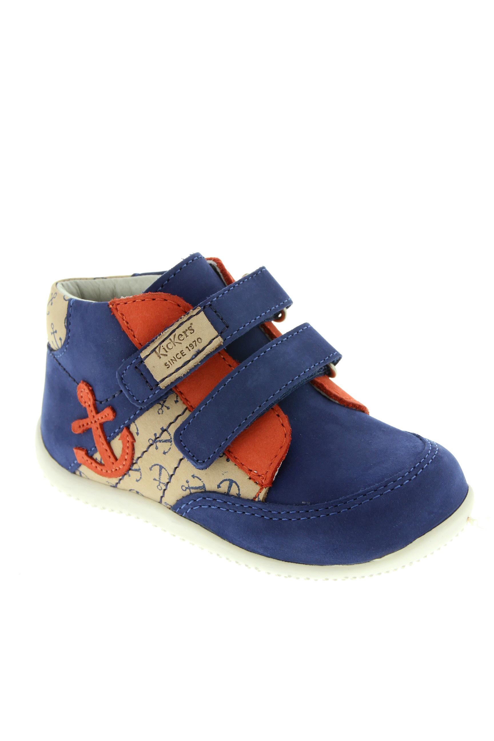 KICKERS Chaussures BottinesBoots de couleur bleu en soldes pas cher 1387639 bleu00 Modz