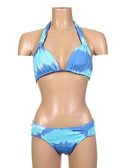 Maillot de bain 2 pièces bleu ESCALE À BAHIA pour femme