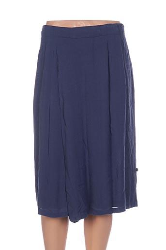Jupe mi-longue bleu ADIA pour femme