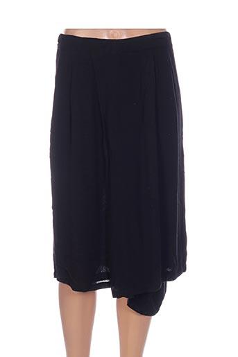 Jupe mi-longue noir ADIA pour femme
