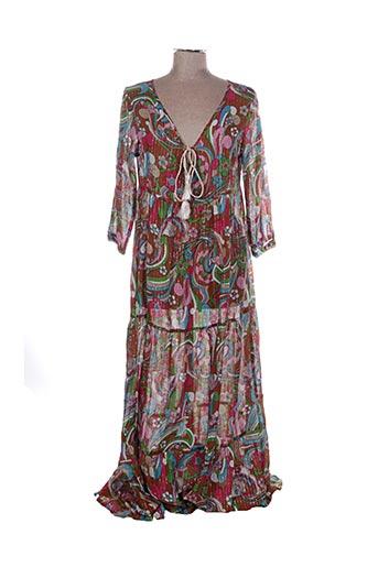 Robe longue marron CHICOSOLEIL pour femme