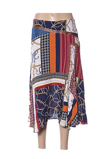 Jupe mi-longue bleu ATELIER JAD pour femme