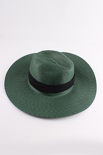 Chapeau vert PALME pour femme