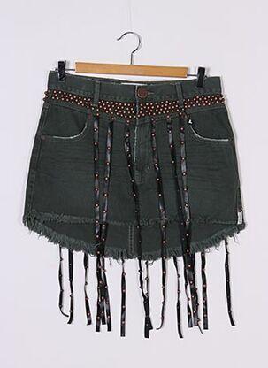 Mini-jupe vert ONETEASPOON pour femme