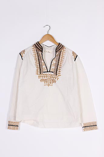 Blouse manches longues blanc MY SUNDAY MORNING pour femme
