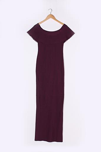 Robe longue violet MARCIANO pour femme