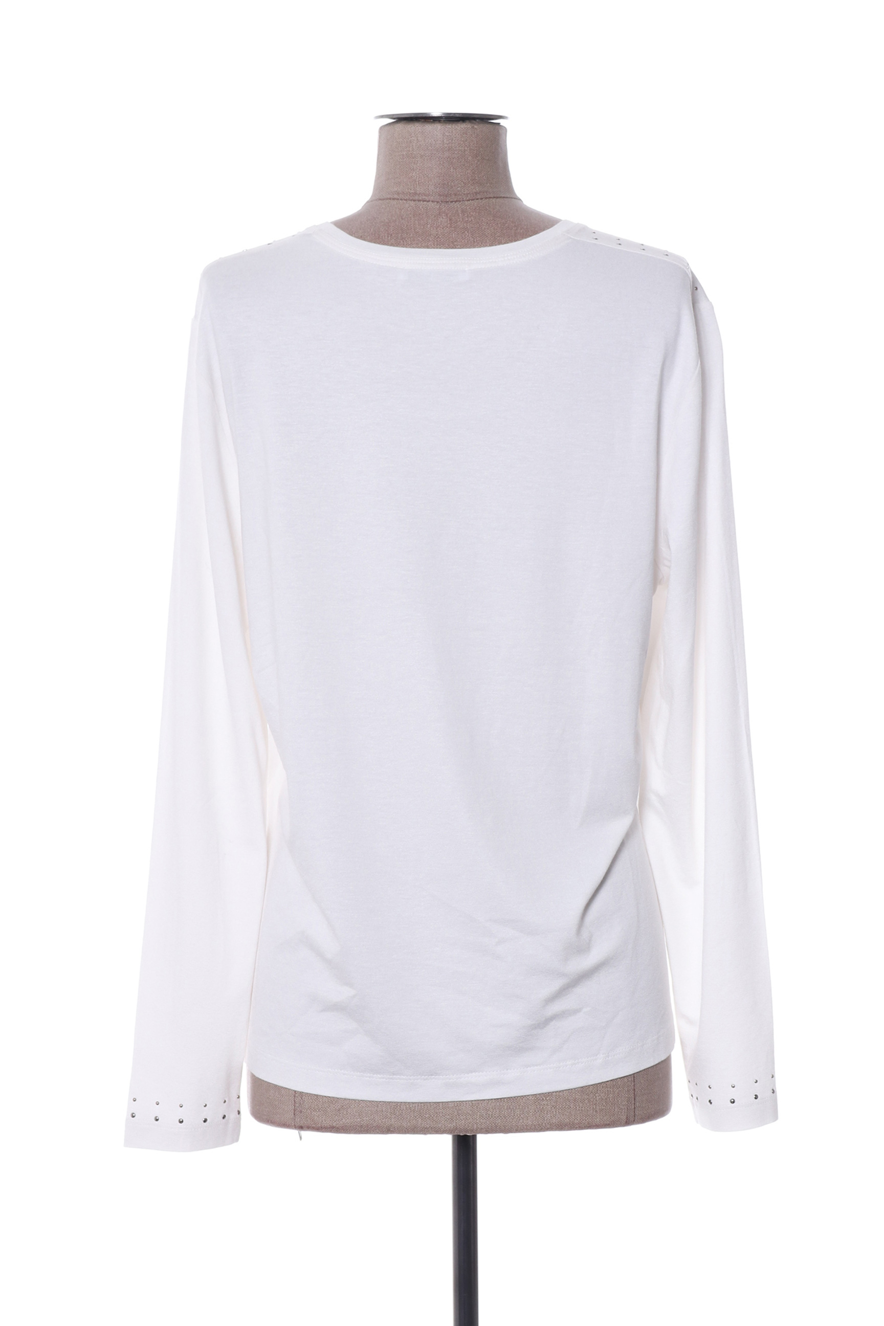 Lucia Manches Longues 1 Femme De Couleur Blanc En Soldes Pas Cher 1386022-blanc0