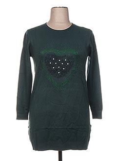 Pull tunique vert F&8 pour femme