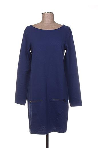 Robe mi-longue bleu BENETTON pour femme