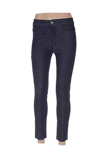 Jeans coupe slim bleu BENETTON pour femme
