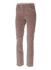 Pantalon casual beige BENETTON pour femme seconde vue