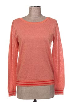Pull col rond orange GRACE & MILA pour femme