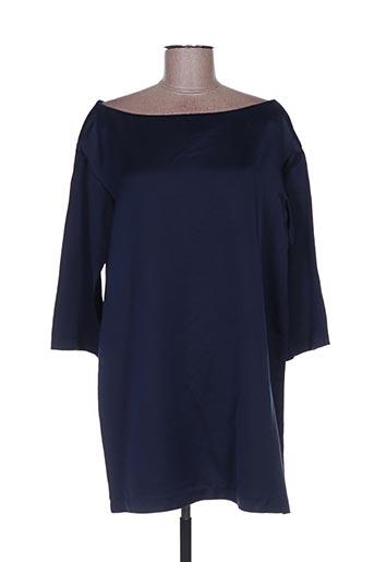 Robe courte bleu ATTIC AND BARN pour femme