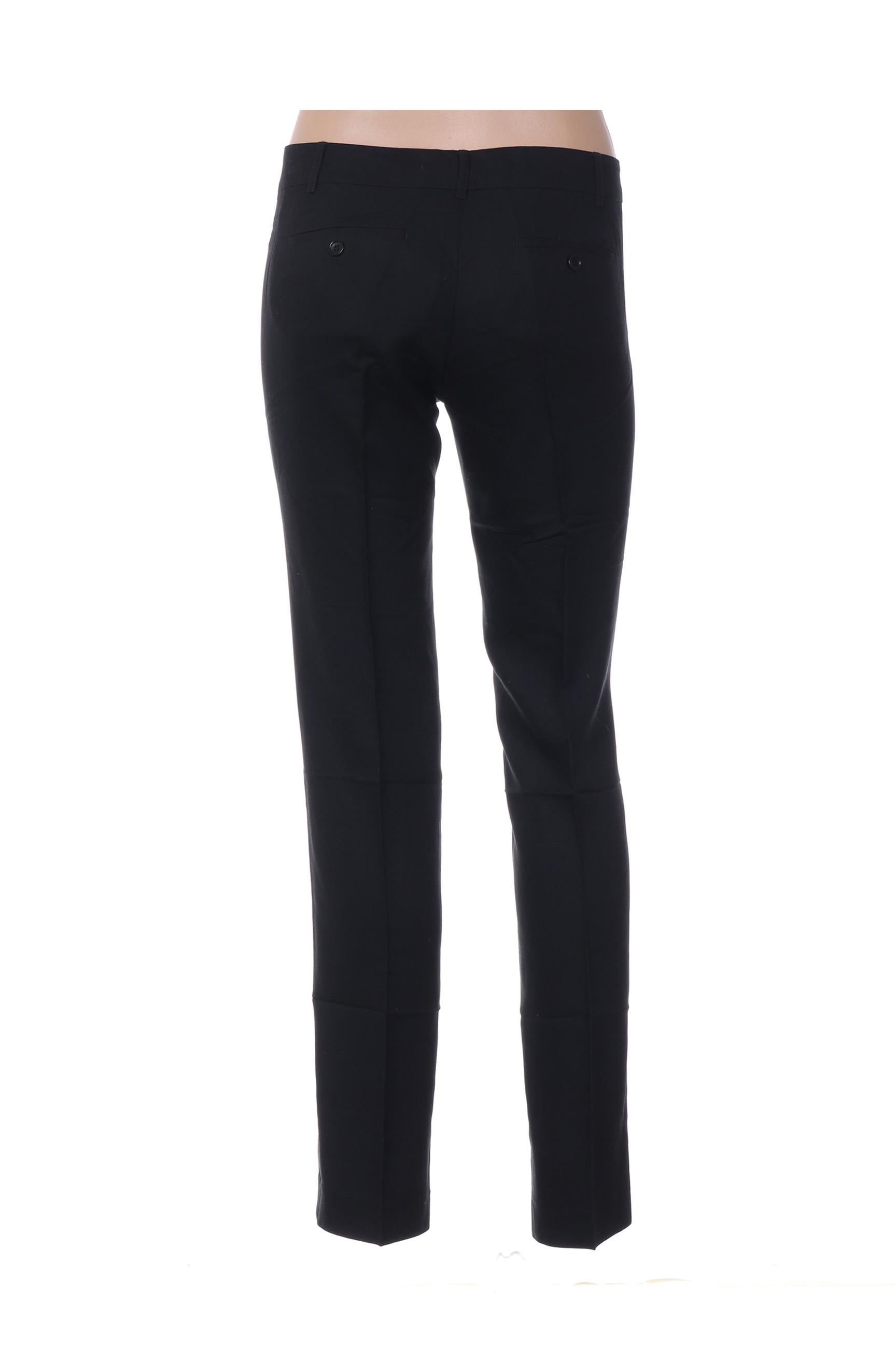 Hartford Pantalon7 8 Femme De Couleur Noir En Soldes Pas Cher 1380955-noir00