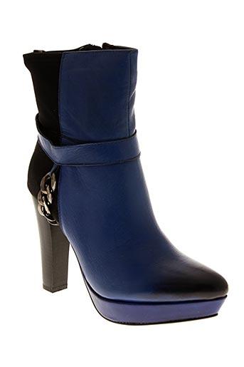 Bottines/Boots bleu ILARIO FERUCCI pour femme