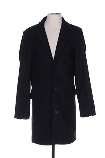 Manteau long bleu CASUAL FRIDAY pour homme