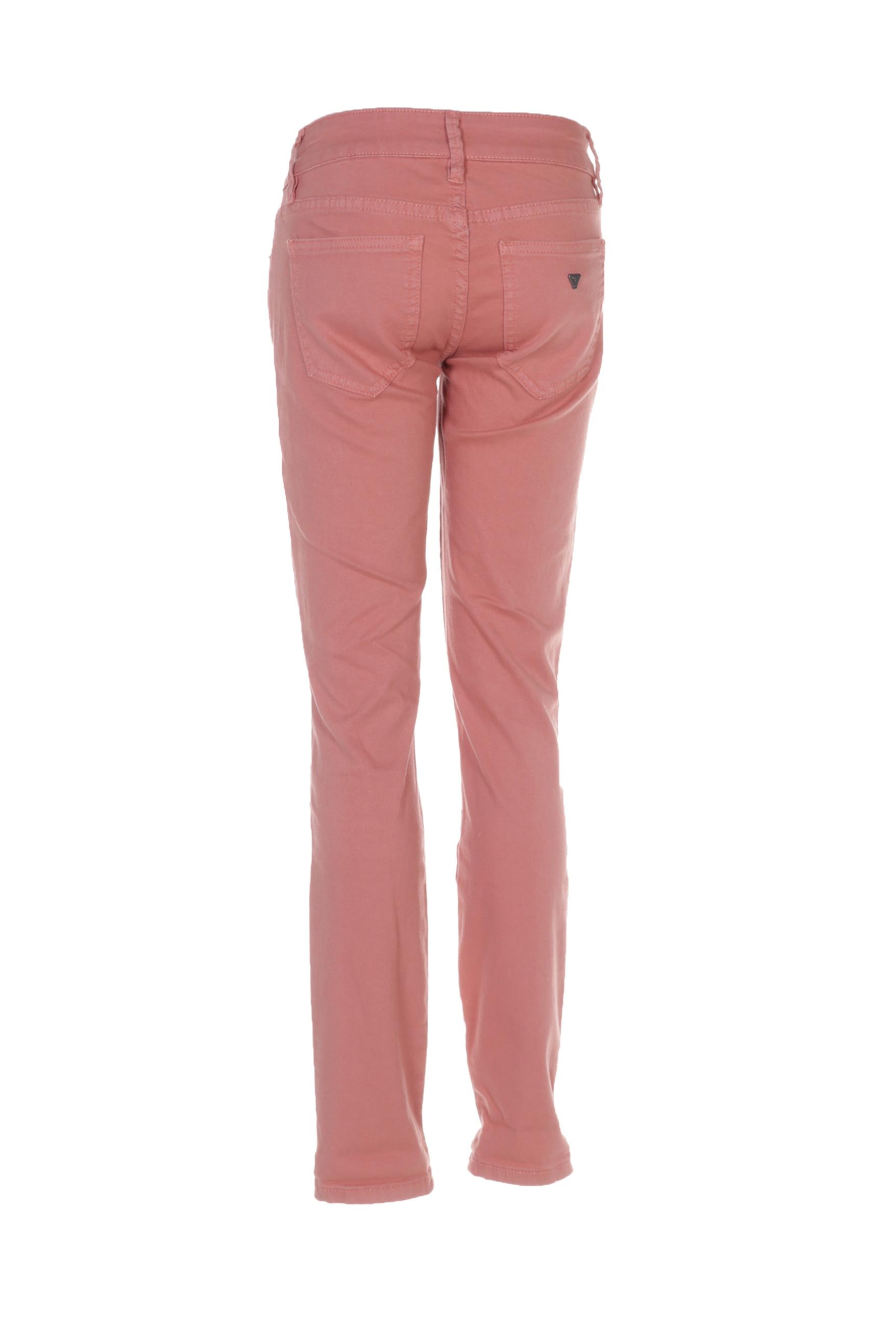 Guess Pantalons Decontractes Femme De Couleur Rose En Soldes Pas Cher 1384282-rose00