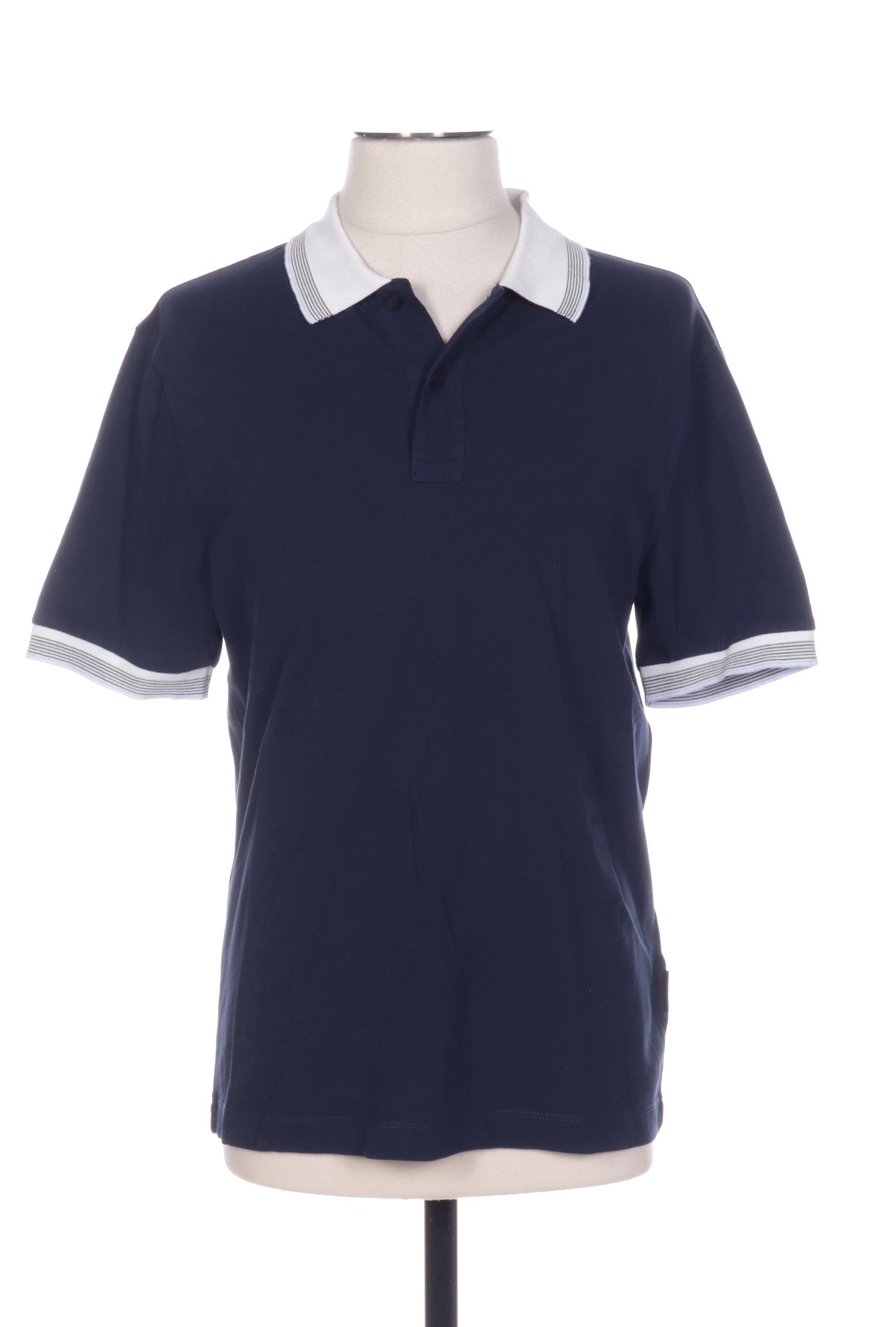 Cerruti 1881 Polos Homme De Couleur Bleu En Soldes Pas Cher 1385068-bleu00