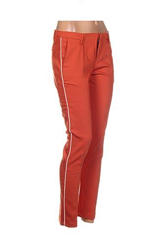 Pantalon 7/8 orange BO'AIME pour femme