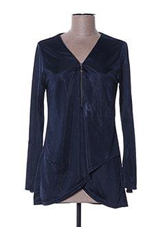 T-shirt manches longues bleu MULTIPLES pour femme