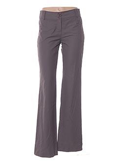 Pantalon chic marron MULTIPLES pour femme