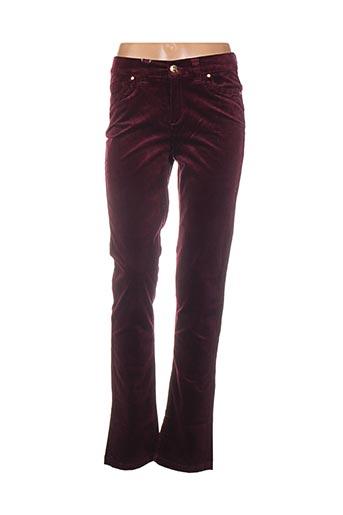 Pantalon casual violet DISMERO pour femme