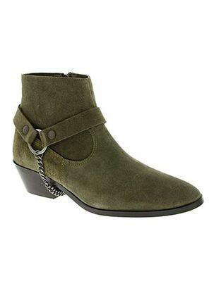 Bottines/Boots vert ANONYMOUS pour femme